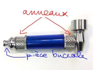 pièces amovibles d'une pipe