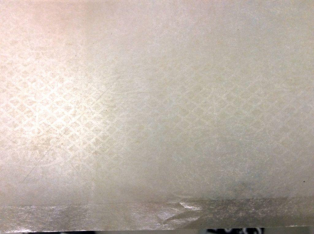 filigrane sur une feuille RAW