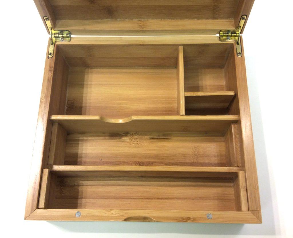 interieur de la boite luxe bambou
