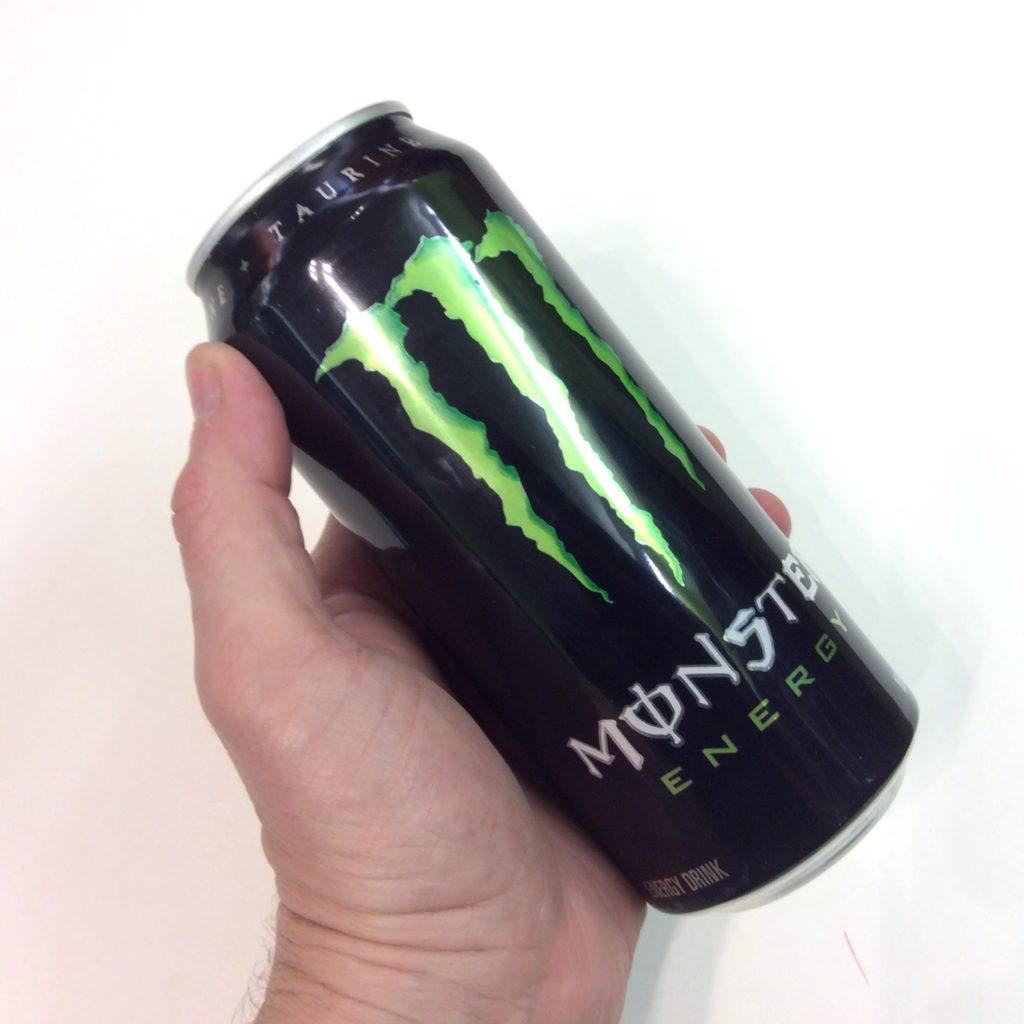 energy drink monter cachette