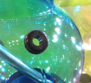prise d'air sur bong acrylique