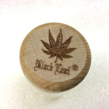 Pots verre black leaf