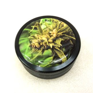 grinder metal bud black leaf