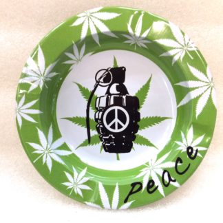 cendrier metal rond peace