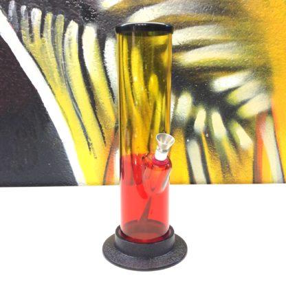 Bang acrylique droit jaune rouge