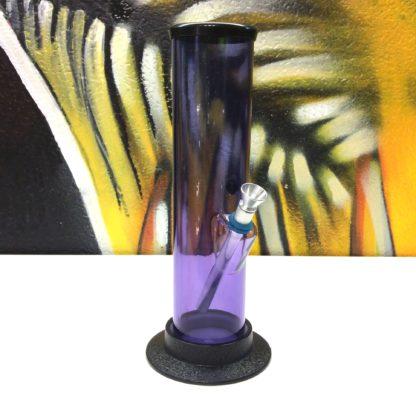 Bang acrylique droit mauve