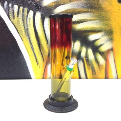 Bang acrylique droit rouge jaune