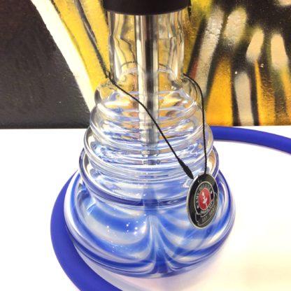 detail du vase de la chicha AMY Stilness bleu
